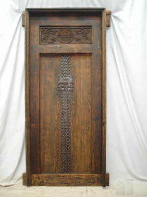 Antique Chinese Elmwood door u0026 frame. & chinese antique screens panels doors windows architectural ...