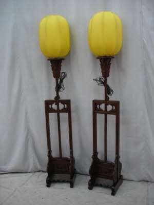 Pair of antique Chinese lanterns.