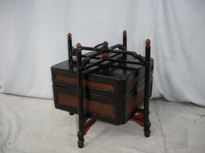 Antique Chinese picnic basket