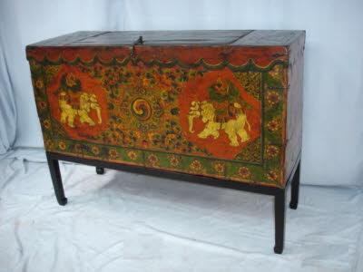Antique Tibetan trunk