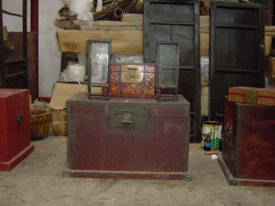 Antique Chinese wedding trunk
