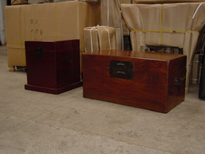 Red Lacquer trunk & camphor trunk