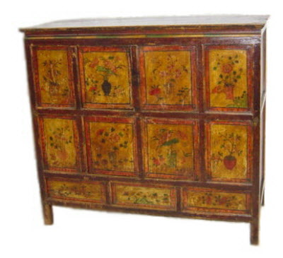 Big antique Tibetan chest