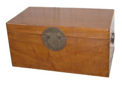 Antique Chinese Camphor wood chest
