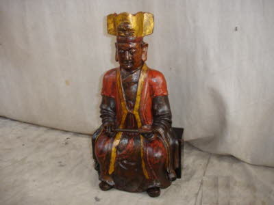 Antique Chinese Wooden warrior