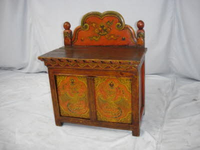 Antique Tibetan side cabinet