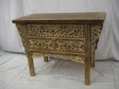 Antique Chinese Elmwood altar coffer