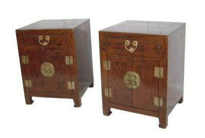 Pair of small antique Chinese cabinets