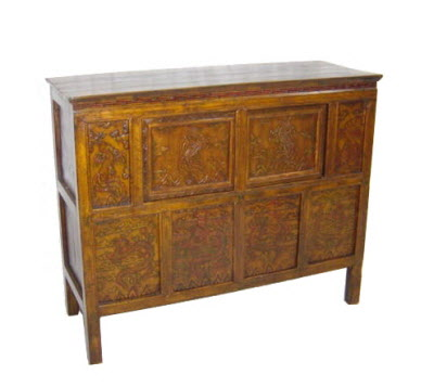 Antique Tibetan chest