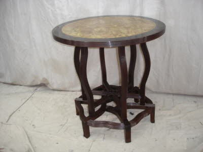 Antique Chinese blackwood round table