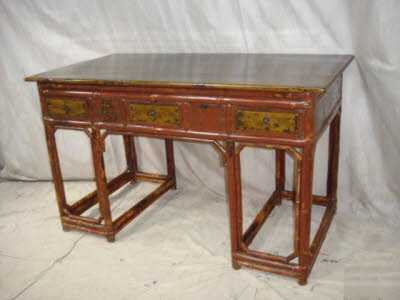 Antique Chinese bamboo writing desk