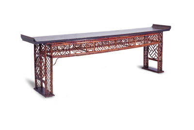 Antique Chinese Bamboo long altar table