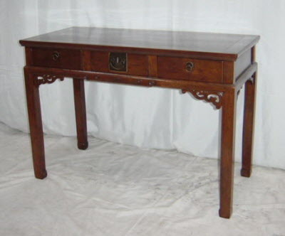 Antique Chinese three drawer desk