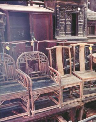 Zhuhai, antiques Chinese furniture warehouse