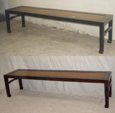 Antique Chinese furniture restoration