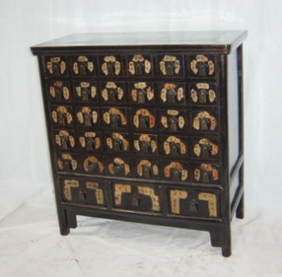 Antique Chinese chests, trunks – black medicine chest - Antique Chinese Chests, Trunks – Black Medicine Chest – Art
