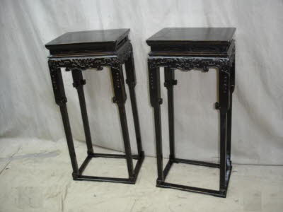 Antique Chinese Stands Flower Stands Pillar Bases Antique Chinese Furniture Description
