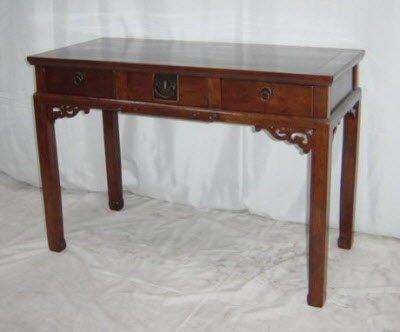 Antique Chinese tables, desks – three drawer desk - Antique Chinese Tables, Desks – Three Drawer Desk – Art Treasures